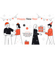 happy new year - flat design style vector image vector image