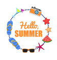 hello summer background circle vector image vector image