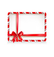 holiday stripe frame-04 vector image vector image