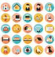 Hotel Accommodation Amenities Services Icons Set A vector image vector image