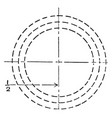 inscribed circle with smaller circles at tangent vector image vector image