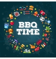 invitation template flat design barbecue vector image