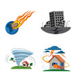 isolated object natural and disaster icon vector image