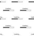 loading icon seamless pattern progress bar icon vector image vector image