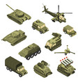 military vehicles isometric set vector image