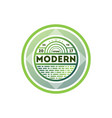 modern green round isolated label vector image vector image
