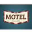 Motel roadsign vector image vector image