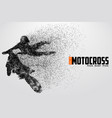motocross drivers silhouette vector image vector image