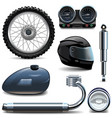 Motorcycle Spares Icons vector image vector image