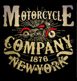 motorcycle t-shirt graphic vector image vector image