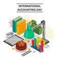 office accounting day concept background vector image vector image
