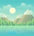 peaceful mountains vector image