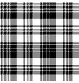 pixel check fabric texture black white seamless vector image vector image