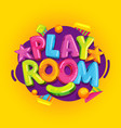 playroom yellow vector image