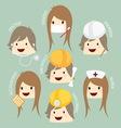 popular job asean economics community aec cartoon vector image