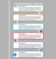 professional infographic process visualization vector image