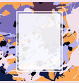 purple lilac orange brown ink splashes ellipse vector image vector image