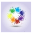 rainbow of paint spray vector image