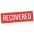 recovered grunge rubber stamp vector image vector image
