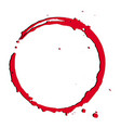red bloody tracecircle grunge frame background vector image vector image