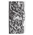 rinceau carved double from notre dame vintage vector image vector image