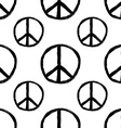 Seamless pattern from Peace sign Hippie symbol of vector image vector image