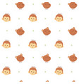 seamless pattern monkey and bear vector image vector image