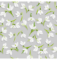seamless pattern with snowdrop flowers vector image vector image