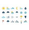 Set climate forecast weather icons