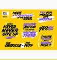 set of short positive quotes motivational cards vector image vector image