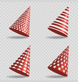 set red party hats with different design vector image