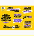 set short positive quotes motivational cards vector image