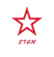 Star red of paper design logo web icon vector image vector image