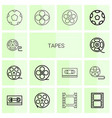 tapes icons vector image vector image