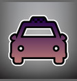 taxi sign violet gradient vector image vector image