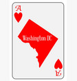 usa playing card ace hearts vector image vector image