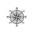 vintage compass symbol and sign vector image vector image