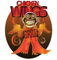 Wings Grill for lovers of fried chicken vector image