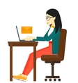 Woman receiving email vector image