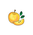 yellow apple icon on a white background vector image vector image