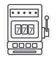 casino slot machine line icon sign vector image