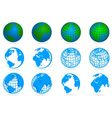 collection of planets vector image