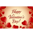 Valentines Day Greeting Card vector image