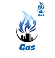 Natural gas refinery factory icon vector image