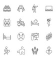 16 person icons vector image vector image