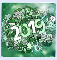 2019 year hand lettering and doodles elements vector image vector image