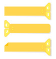 a set retro ribbons and labels for advertising vector image