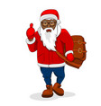 african black santa claus trendy clothes big bag vector image vector image