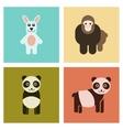 assembly flat icons nature Panda monkey rabbit vector image vector image