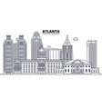atlanta united states outline travel skyline vector image vector image